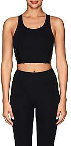 Sapopa Women's Roberta Tech-Jersey Crop Top - Black