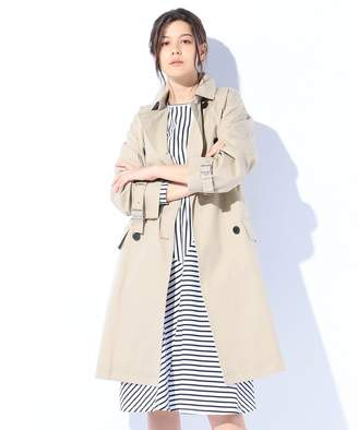 Calvin Klein (カルバン クライン) - Calvin Klein women 【2018SS】マーセライズドコットンウェザー トレンチコート(C)FDB