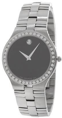 Movado Juro 0605023 Stainless Steel 1.50ct Diamond Bezel Quartz 36mm Mens Watch