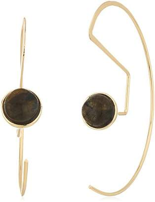 Danielle Nicole Muche Gold / Laboradorite Hoop Earrings
