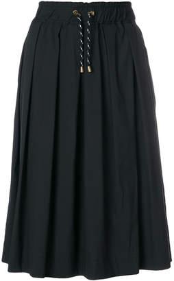 Woolrich elasticated drawstring midi skirt