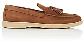 Barneys New York Men's Tassel-Embellished Suede Loafers - Brown