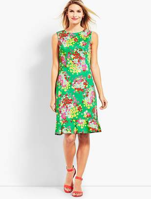 Talbots Springtime Floral Shift Dress