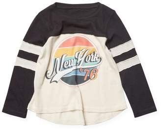 Rowdy Sprout New York Dreamer Tee - Black, Size 6-12 month