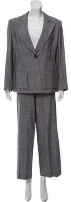 Armani Collezioni Structured Tweed Pantsuit grey Structured Tweed Pantsuit
