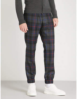 Etro Checked regular-fit tapered wool trousers