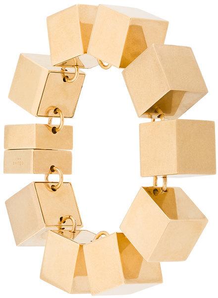 CelineCéline 3D cube bracelet