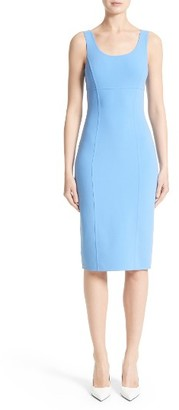 Women's Michael Kors Stretch Wool Crepe Sheath Dress $1,695 thestylecure.com
