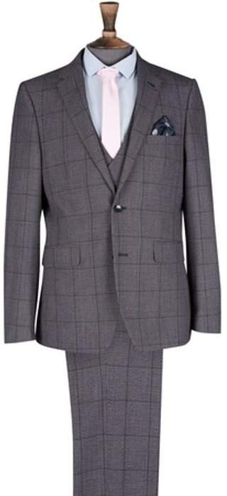 Womens **Burton Bold Grey Jaspe Check Slim Fit Suit Jacket