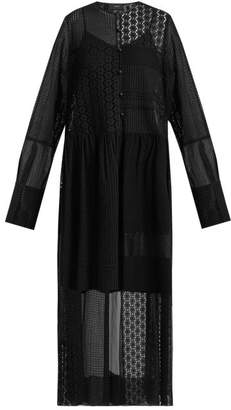 Joseph Odette Patchwork Broderie Anglaise Dress - Womens - Black