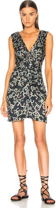 Etoile Isabel Marant Carla Printed Cotton Satin Dress
