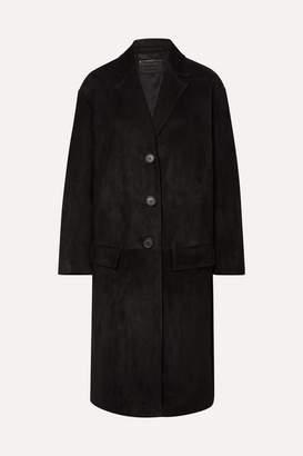 Prada Suede Coat - Black