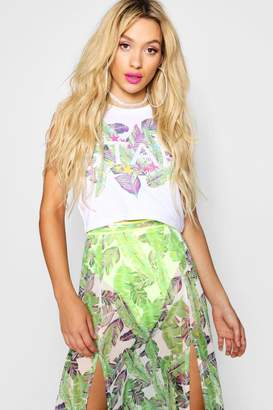 boohoo Star Slogan Sleeveless Crop Top