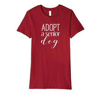 Adopt a Senior Dog T Shirt for Pet Adoption Advocacy