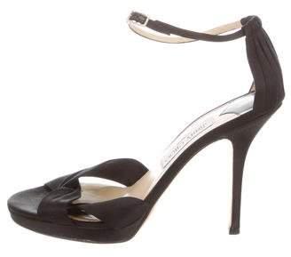 Jimmy Choo Satin High-Heel Sandals