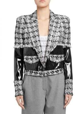 Balmain Vinyl Tweed Blazer