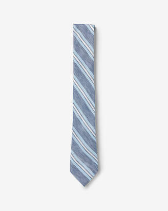 Express Narrow Diagonal Striped Silk Tie