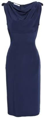 Oscar de la Renta Draped Silk-crepe Dress
