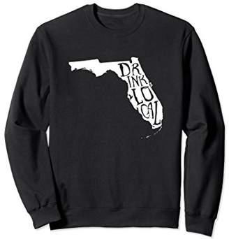 Drink Local Florida State Outline Craft Beer Sweatshirt