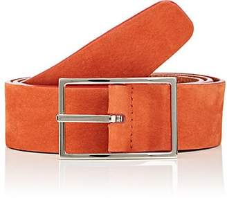 Simonnot Godard SIMONNOT GODARD MEN'S SUEDE BELT - ORANGE SIZE 36