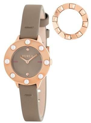 c2bd2b15294 Furla Women s Club Interchangeable Bezel Leather Strap Watch