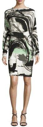 Norma Kamali All-in-One Graffiti-Print Dress $160 thestylecure.com