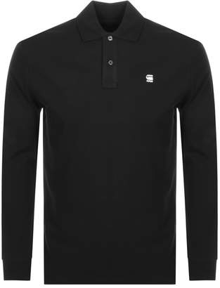 G Star Raw Long Sleeved Starkon Polo T Shirt Black