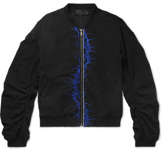 Haider Ackermann Oversized Embroidered Cotton-Jersey Bomber Jacket