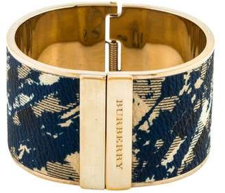 Burberry Hinged Leather Cuff