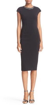 Women's Ted Baker London 'Dardee' Embellished Body-Con Midi Dress $315 thestylecure.com
