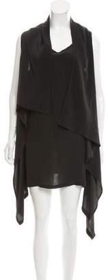 Ann Demeulemeester Silk Draped Midi Dress