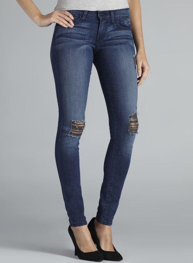 Flying Monkey Five Pocket Distressed Skinny Jeans