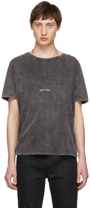 Saint Laurent Black Washed Rive Gauche Logo T-Shirt