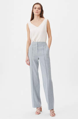 Rebecca Taylor Tailored Stretch Linen Pant