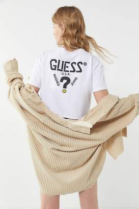 GUESS X Chinatown Market X Smiley UO Exclusive Cropped Graphic Tee