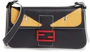 Fendi 'Mini Monster' Leather Baguette
