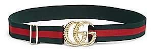 Gucci Women's GG Logo Stripe Belt