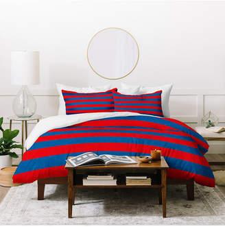 Deny Designs Holli Zollinger Rugby Stripe Twin Duvet Set Bedding