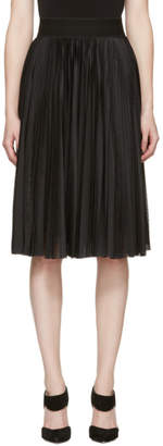 Givenchy Black Technical Mesh Pleated Skirt