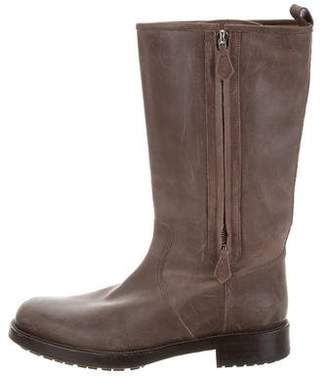 Hermes Distressed Round-Toe Boots