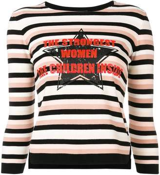 Elisabetta Franchi striped jumper