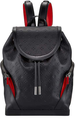 Christian Louboutin Men's Explorafunk Embossed Calf Leather Backpack