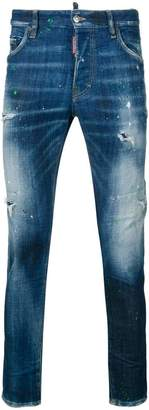 DSQUARED2 acid wash skinny jeans