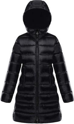 Moncler Suyen Hooded Long Puffer Coat, Sizes 4-6
