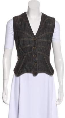 Dolce & Gabbana Denim Button-Up Vest