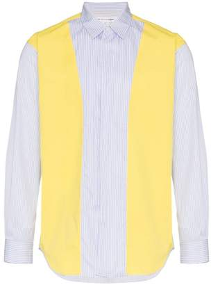 Comme des Garcons long sleeve contrasting panel shirt