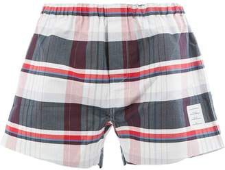 Thom Browne plaid briefs