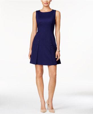 Ivanka Trump Studded A-Line Dress $138 thestylecure.com