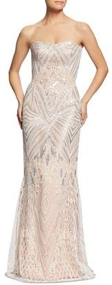 Dress the Population Gretta Strapless Sequined Gown