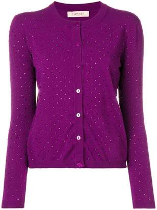 Twin-Set crystal-embellished cardigan